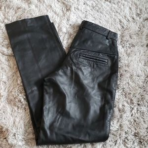 Vintage high waisted leather pants